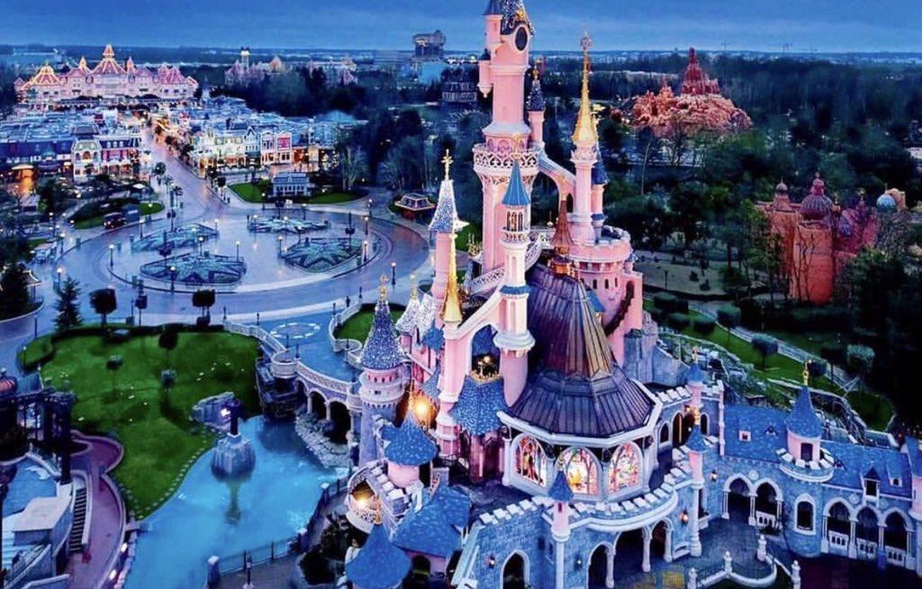 Widok z góry Disneylandu