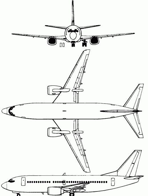 schema di boeing 767 300