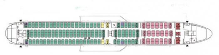 Boeing 767 300 layout di cabina