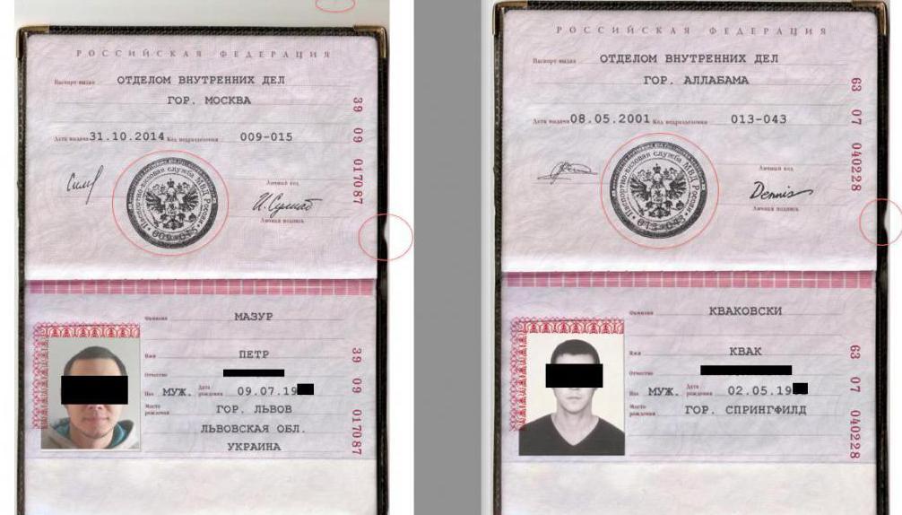 numero di passaporto e serie