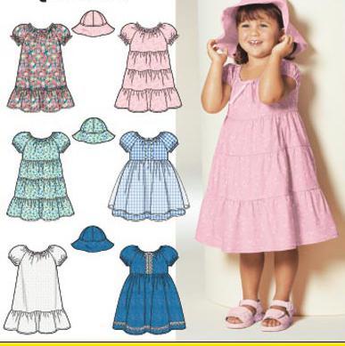 modelli pronti per l'abbigliamento per bambini