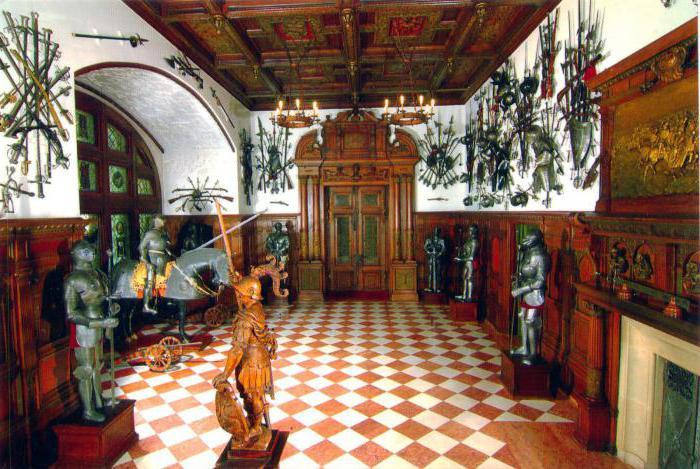 Fotografija dvorca Peles unutra