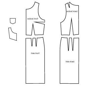 sukienka wzór ołówka