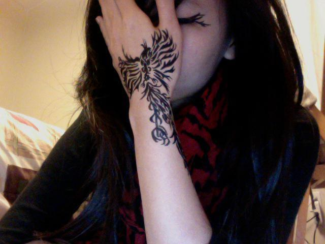 tattoo phoenix per ragazze