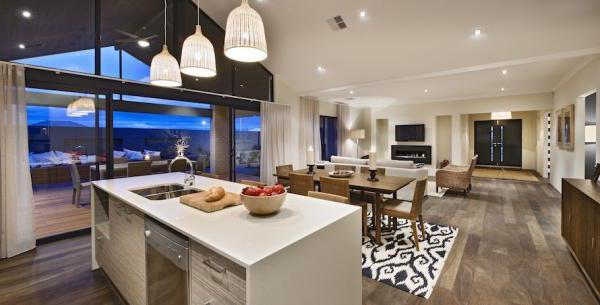 disposizione della cucina in una casa privata