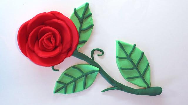 ruža iz platinine na kartonu