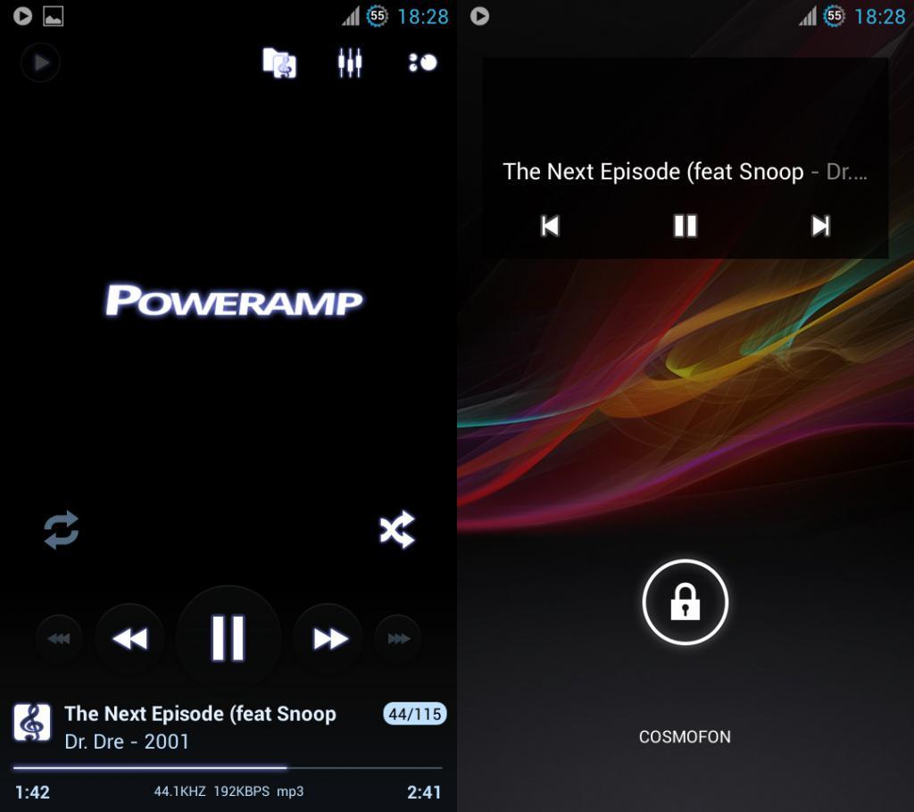 Nabídka PowerAmp