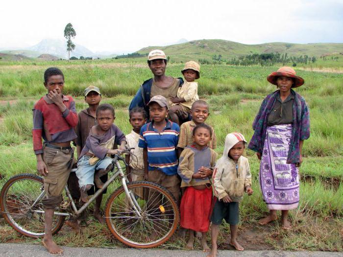 composizione razziale della popolazione del Madagascar