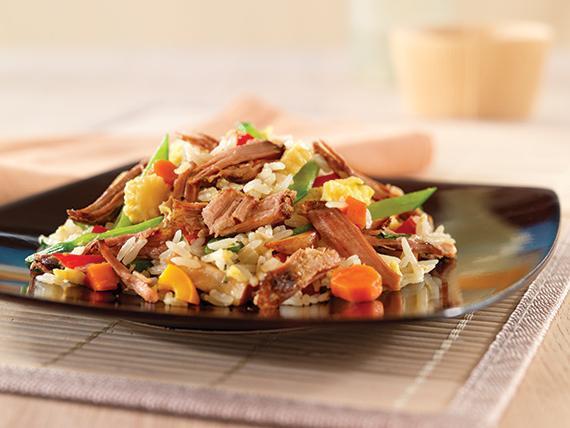 Vepřové maso s rýží v troubě