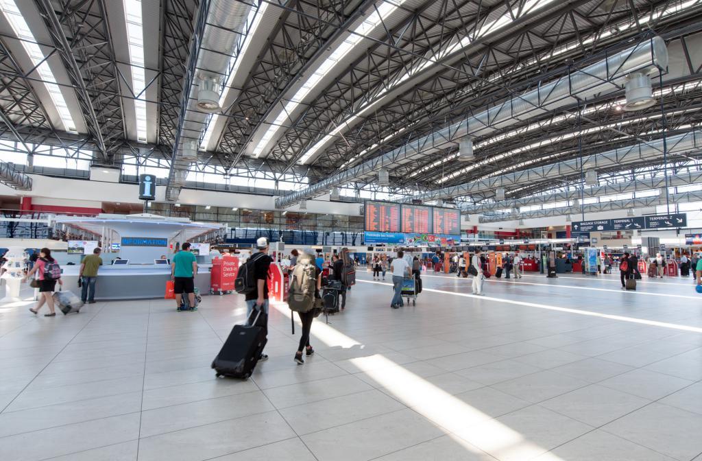 Борд на летището в Прага