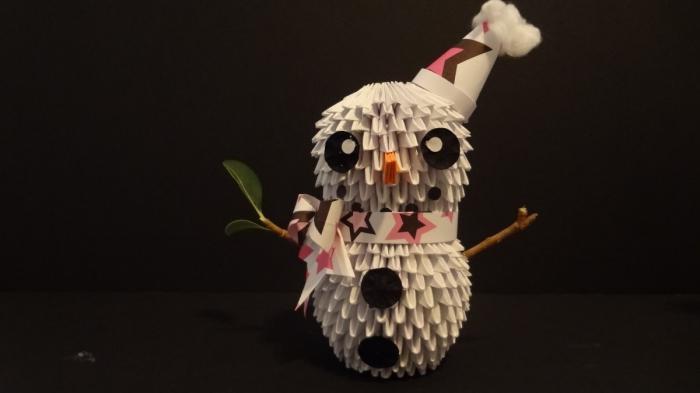 origami snjegović