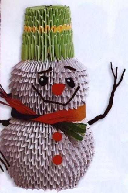 origami snjegović graditi obrasce
