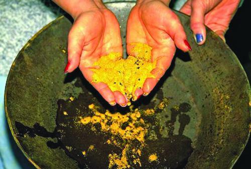 Wydobywanie złota