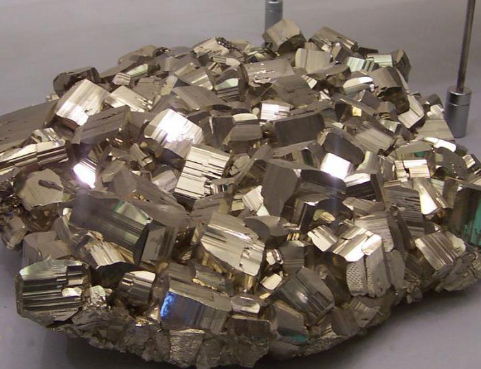 formula di ossidazione della pirite nelle rocce