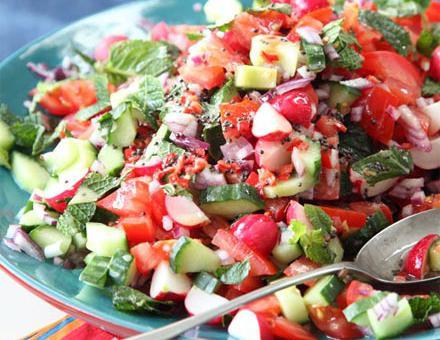 salata od rajčica od krastavaca