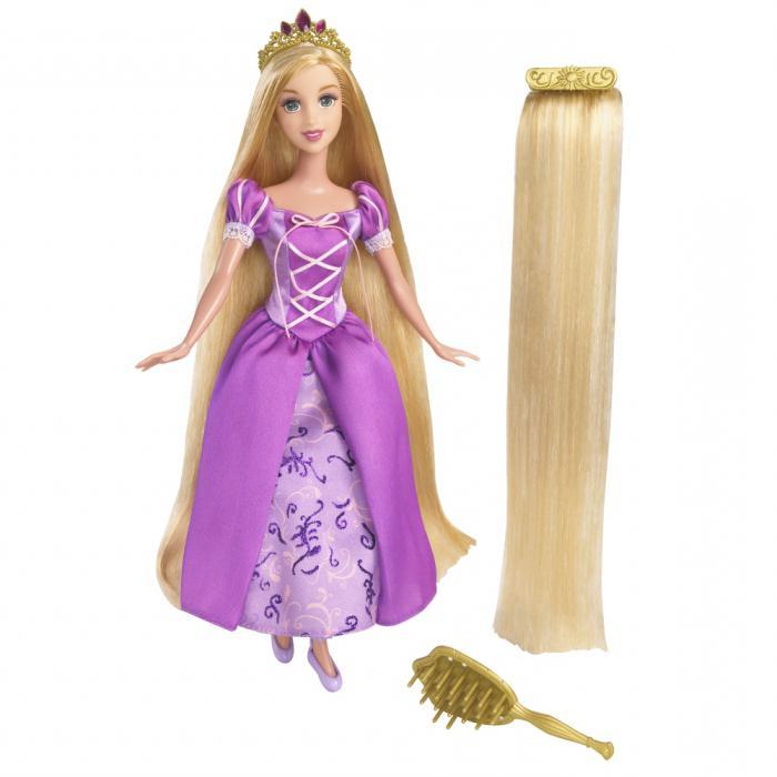 Lalki Roszpunka z długimi włosami
