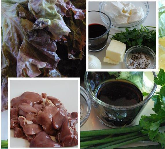 topla salata s pilećom jetrom i pinjolima