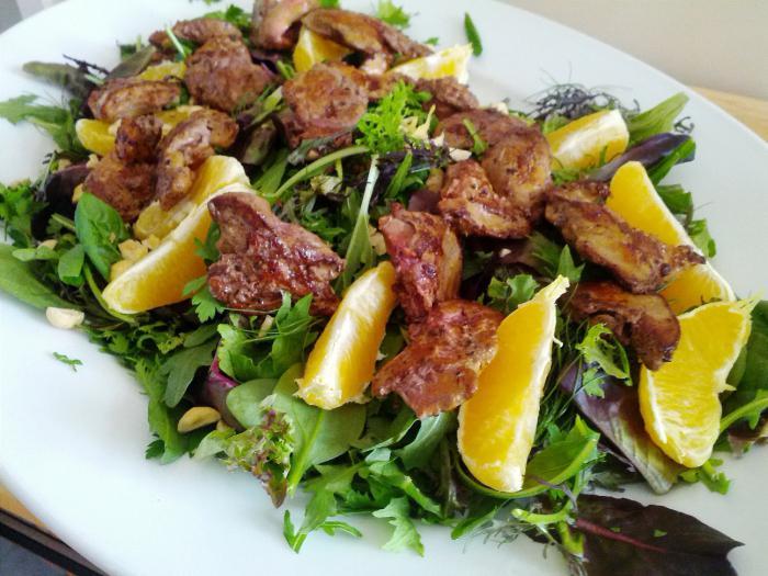 pileća jetra i salate iz nje