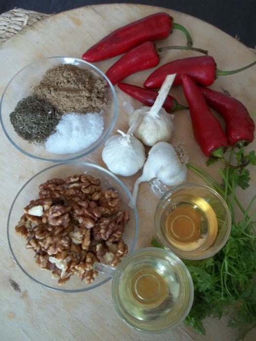 сирови адјика рецепт за кување