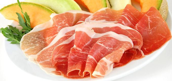 Parma šunka s dinjom