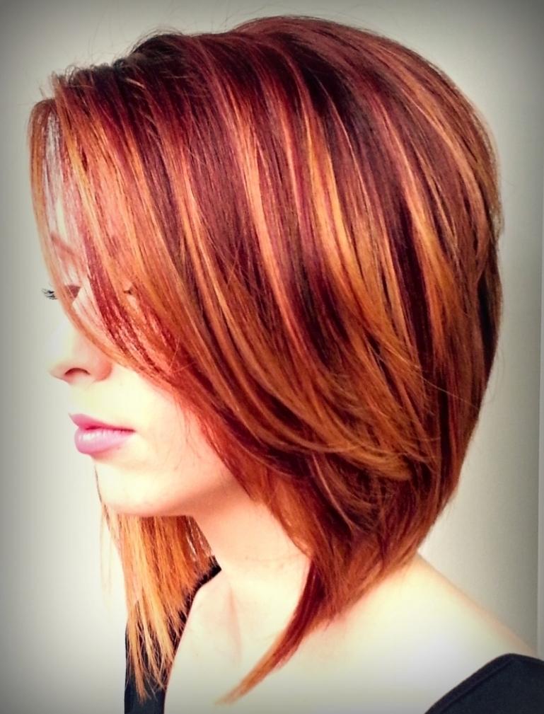 Vernice rossa - su capelli scuri