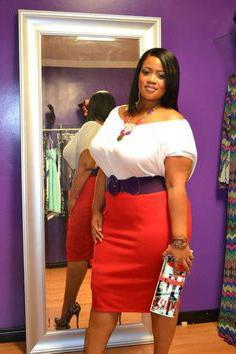 czerwona spódnica zdjęcie