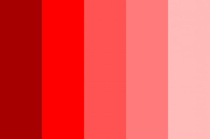 sfumature di foto a colori rossi