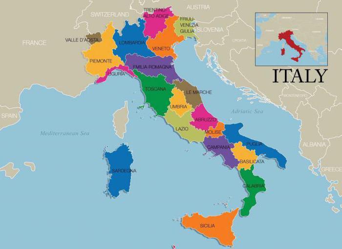 Regije Italije Njihove Znacajke