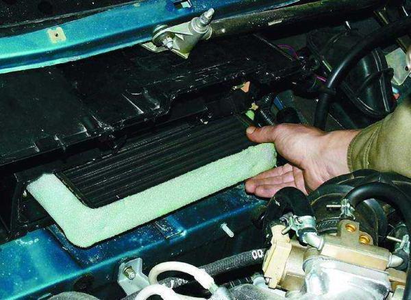 kako ukloniti radijator peći na vaz 2110