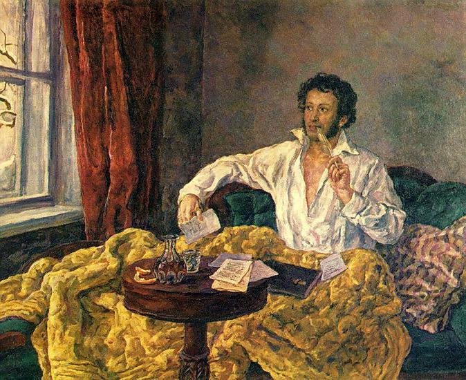 romantična besedila pesmi Puškina