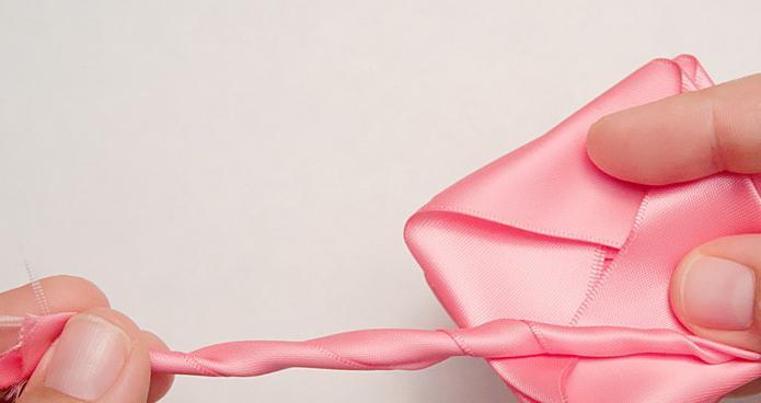 ruža satenskih vrpci majstorska fotografija