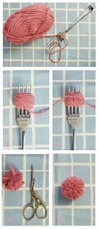 come fare un tappeto di pompon fai da te