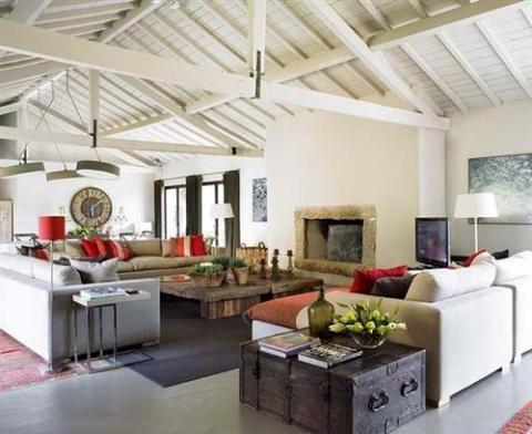Soba v podeželskem slogu
