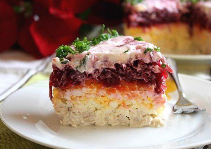 L'insalata è la mia ricetta generale con una foto