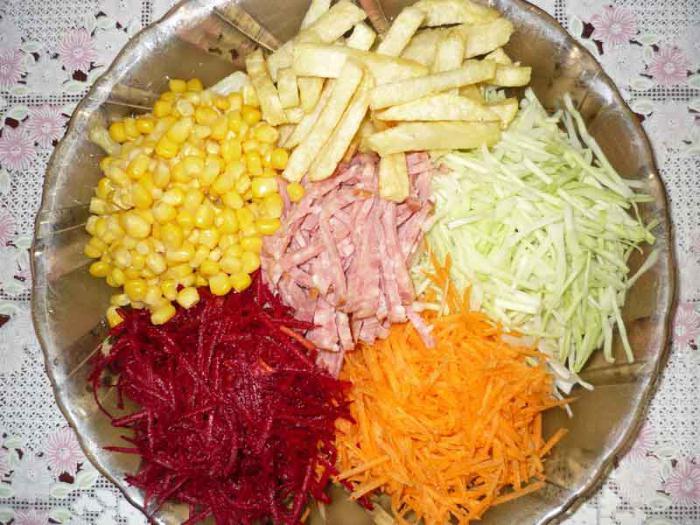 insalata di capra nella ricetta del giardino