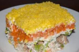 рецепта за мимоза от салата