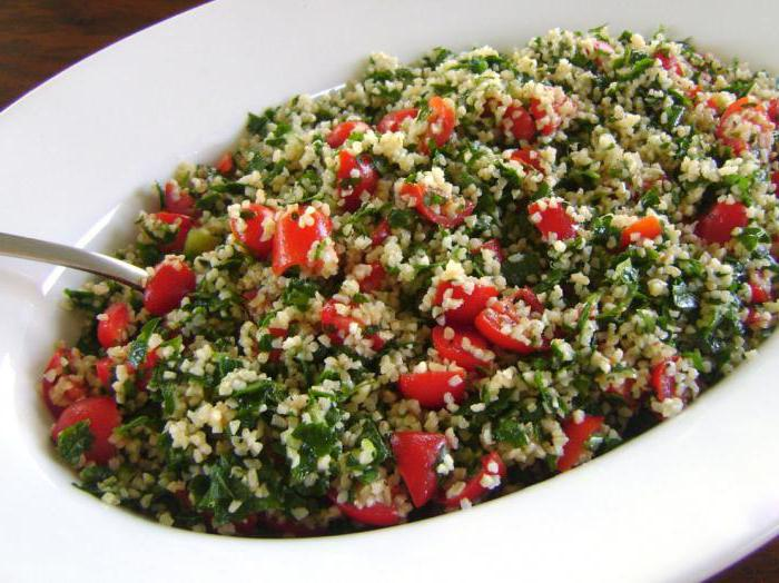 Tabla salata s bulgur