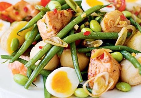 insalata con la ricetta di fagioli