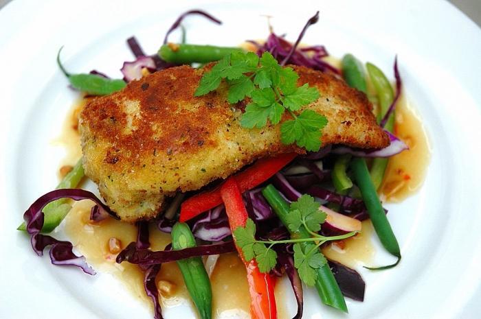 insalata di pesce affumicata calda
