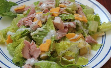 salát se šunkou a rajčaty recept