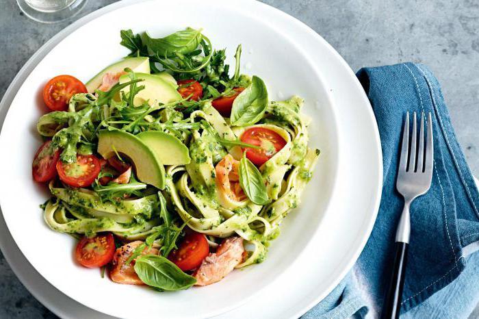 салата са црвеном рибом и авокадом