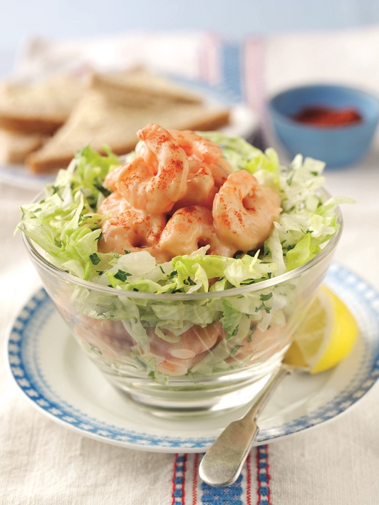salata s kukuruzom i škampima