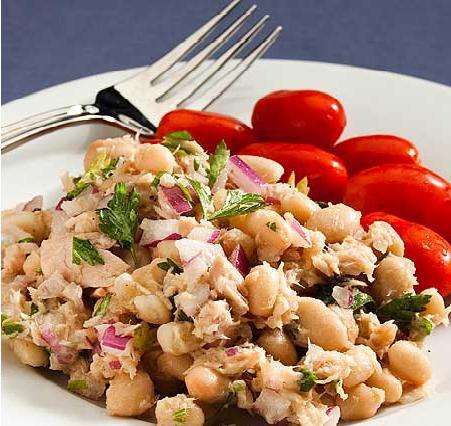 insalata con ricetta fagioli bianchi in scatola