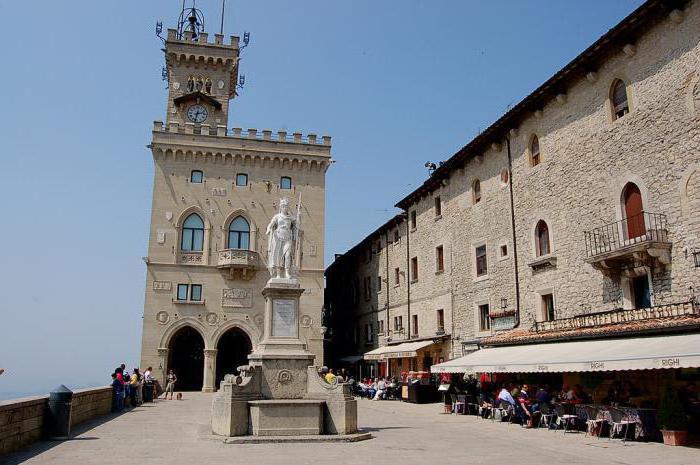 San Marino na mapie