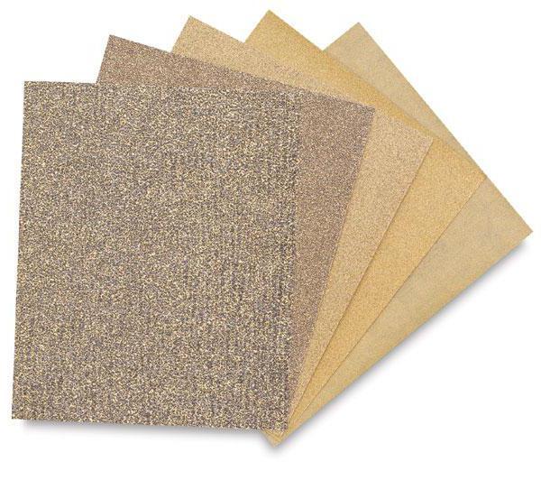 tabela za označevanje brusnega papirja