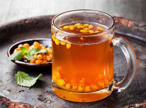 ricetta del tè allo zenzero dell'olivello spinoso