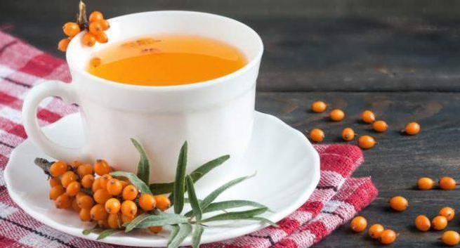 ricetta del tè dell'olivello spinoso