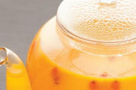 ricetta del tè dell'olivello spinoso passo dopo passo