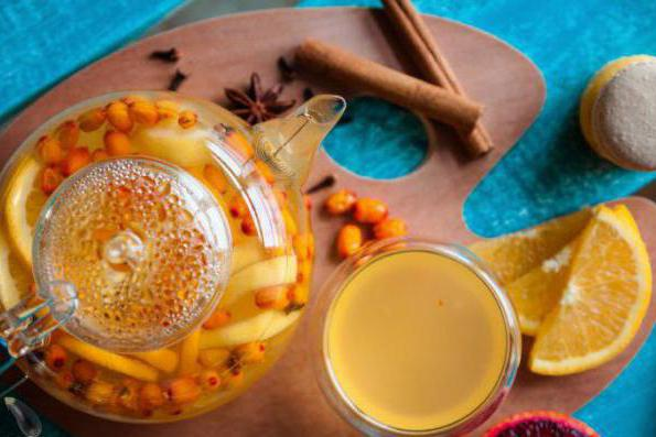 ricetta per il tè dell'olivello spinoso con l'arancio