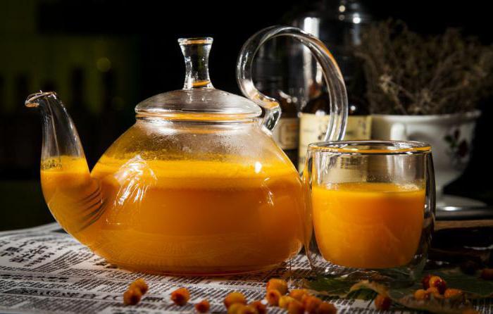 ricette di cottura del tè dell'olivello spinoso